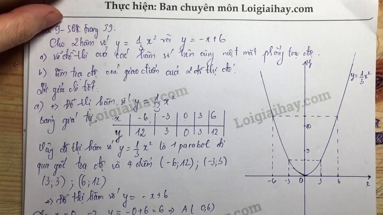 Giải bài 9 trang 39 SGK toán 9 tập 2