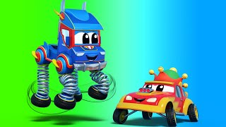 Truck videos for kids -  SPRING TRUCK saves the CURSED City! - Super Truck in Car City!