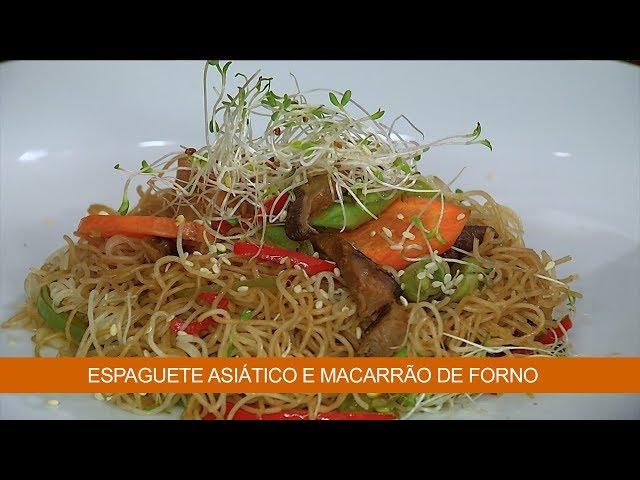 Espaguete Asiático e Macarrão de forno