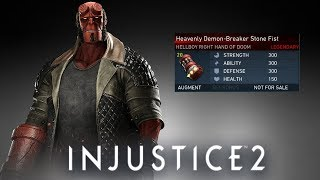 Injustice 2: First Ever Hellboy Legendary Gear Showcase (PS4)