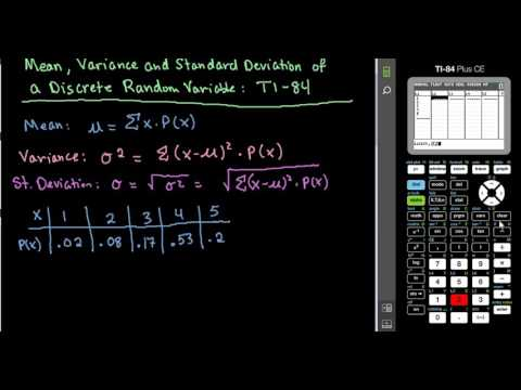 how to work out mean standard deviation