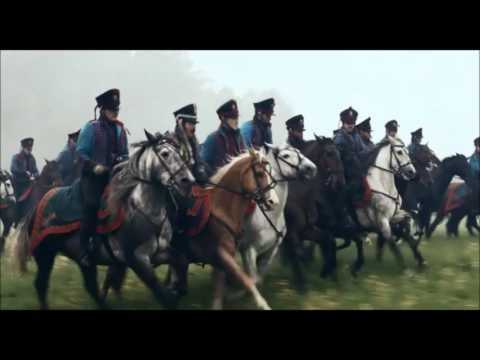 Napoleonic cavalry charge battle scene, War and Peace (2016)