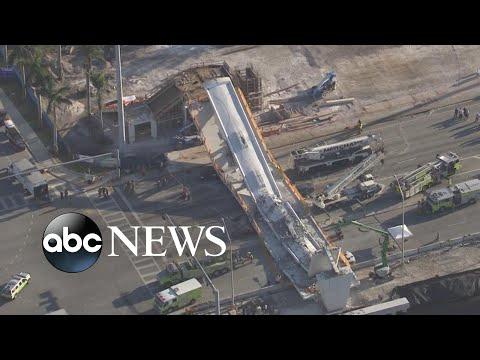 Investigators search for cause of Florida bridge collapse