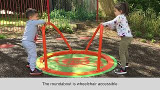 New inclusive playground equipment has been installed in the Fry Crescent area of Burgess Hill to...