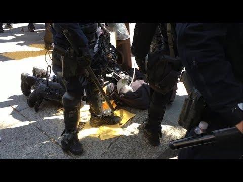 Black Bloc Antifa Member Arrested For Wearing a Mask At MILO Event in Berkeley