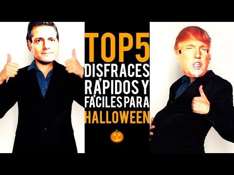 TOP 5 : Disfraces Para Halloween Fáciles Y Rápidos De Hacer. [ Y Además Son Muy Chic ]