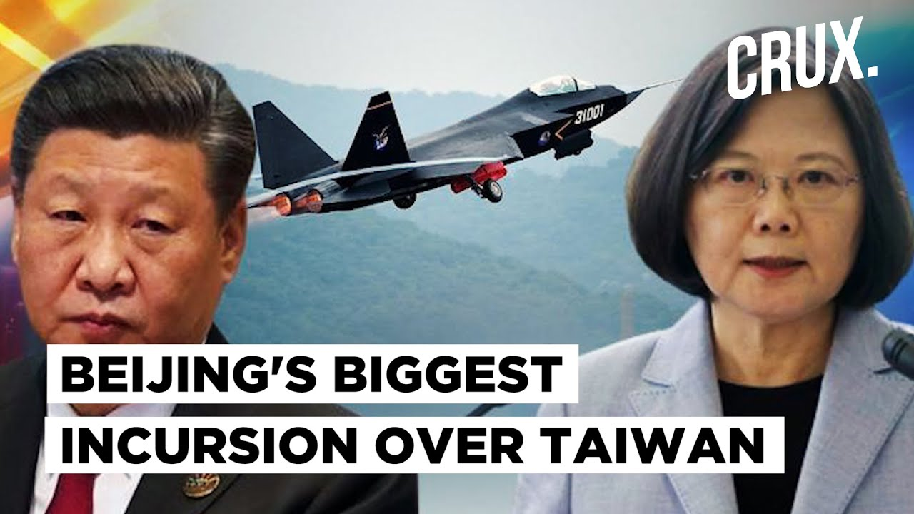 Taiwan reports record number of Chinese planes in defence zone