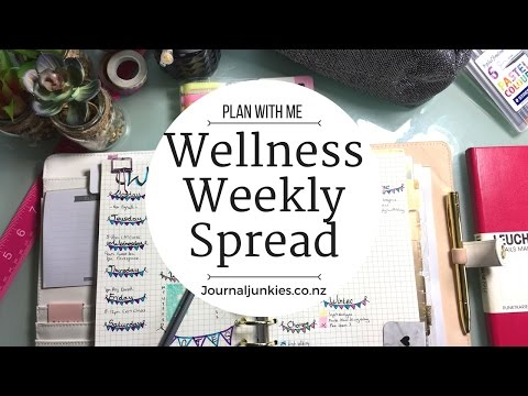 Plan With Me | Wellness Bunting Spread