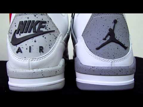 Nike Air Jordan White Cement 4 IV Comparison