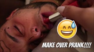 MAKE OVER PRANK ON HUSBAND!!!!