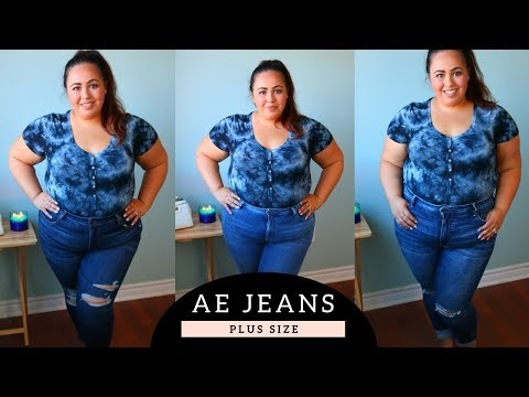 American Eagle Plus Size Jeans Review And Try On