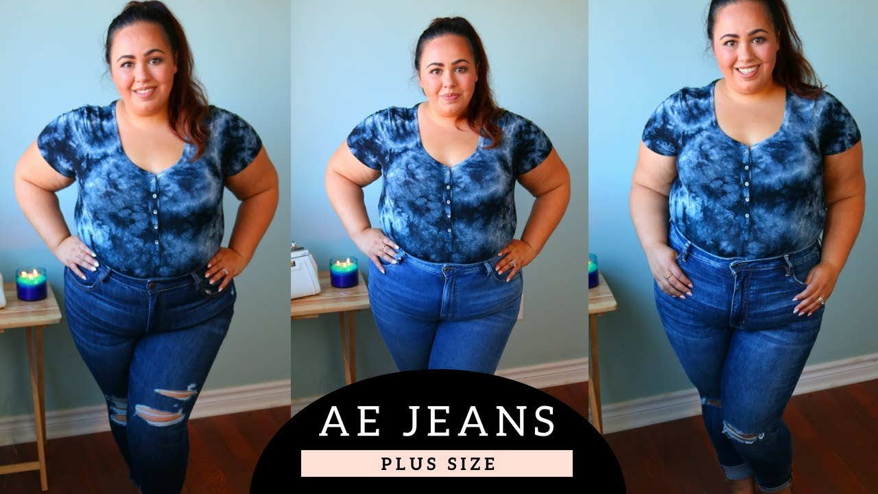 e6d6c93e8d214 American Eagle Plus Size Jeans Review and Try On - YouTube