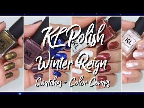 KL Polish  Winter Reign swatches + Comparisons