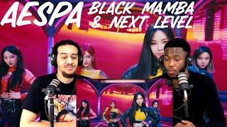 Download lagu REACTING TO aespa 에스파 'Black Mamba' & 'Next Level'  | React Cult