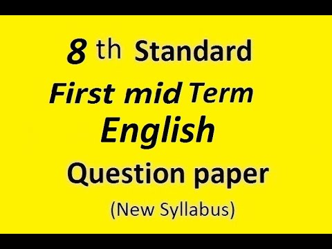 Full Download] 8th Std English Quarterly Question Paper 2018