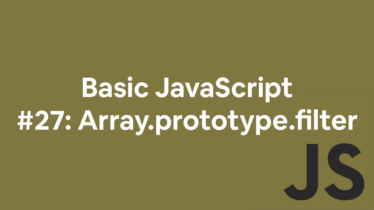 javascript array filter