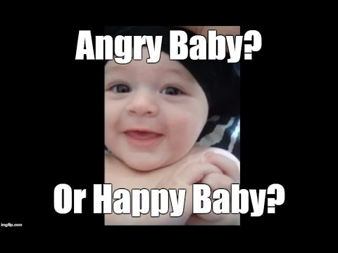 Funny Baby Video - Is he an angry baby or a happy baby?