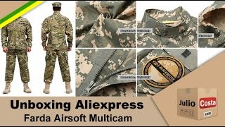 Unboxing Aliexpress - Farda Airsoft Multicam