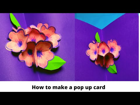 How to make pop up card ll POP-UP CARDS FOR ANY OCCASION ll DIY 3D flower POP UP card