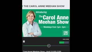 Bill Dowd talking Rats  Ottawa 1310 News THE CAROL ANNE MEEHAN SHOW