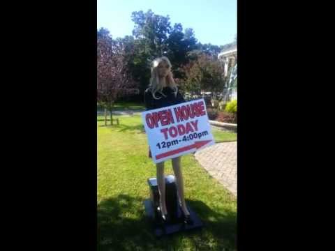 Video motorized waving sign for Motorized sign waving mannequin