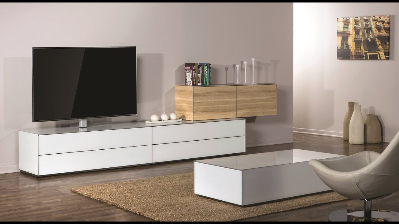 Meuble Tv Hifi Blanc Sonorous Elements | Modular Tv-möbelsystem | Hifi-tv