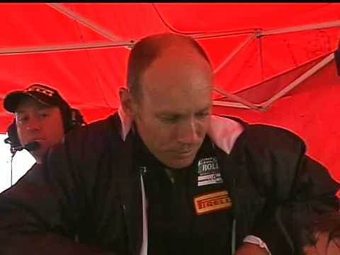 MCM Dion Von Moltke in the car while Hennie Groenewald gives an interview for SPEED