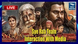 Sye Raa Team Interaction With Media | Chiranjeevi | Ram Charan | LIVE  | New Waves