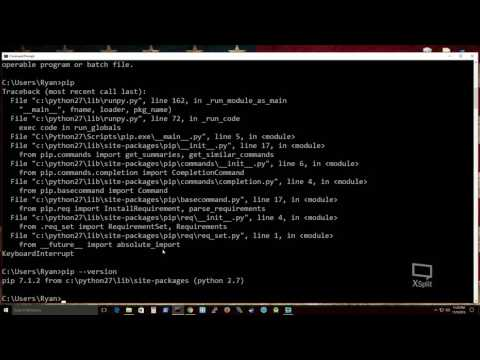Install Python 2.7 and pip onto Windows 10