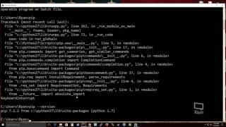 Install Python 2.7 and pip onto Windows 10