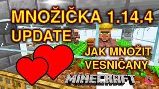 JAK ROZMNOŽIT VESNIČANY V 1.14.4, MNOŽIČKA, UPDATE / Minecraft  | Gala (CZ/SK)