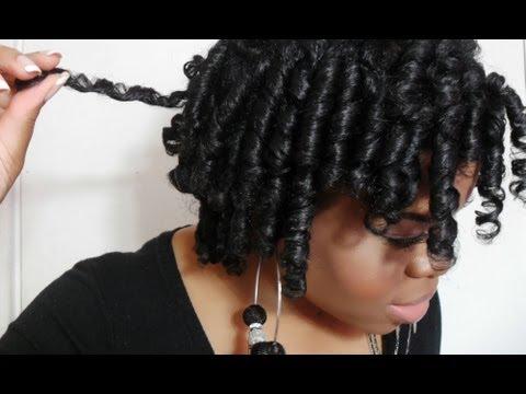 Flexi Rod Set Natural Hair Tutorial Attempt 2