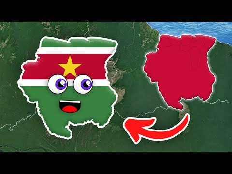 Suriname Geography/Suriname Country 10 Districts