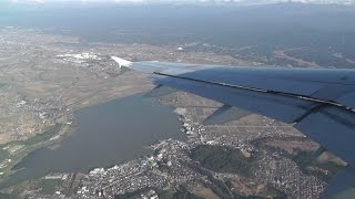 ANA1092便、小松→羽田便の機内からの光景。機種はA320-211 JA8654 小松...