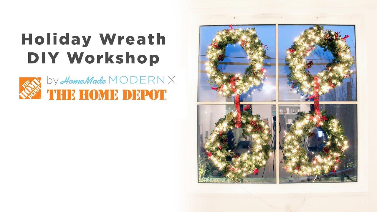 DIY Holiday Decor Wreath Hanging - YouTube