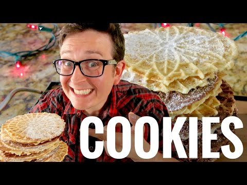 Easy Vegan Pizzelle Cookie Recipe w/ The Sexy Vegan