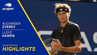 Alexander Zverev vs Lloyd Harris Highlights | 2021 US Open Quarterfinal