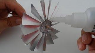 Hélice de latinha de refrigerante do projeto gerador de energia eólica