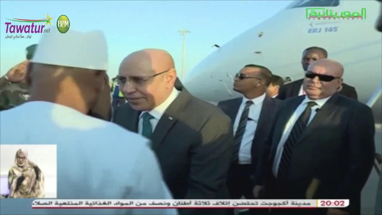 لحظة وصول رئيس الجمهورية محمد ولد الشيخ الغزواني إلى باماكو | قناة الموريتانية