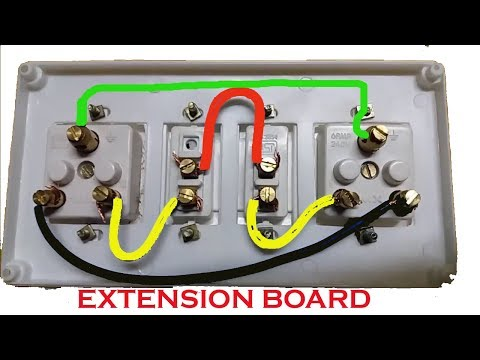 Extension Board Wiring Electrical Extension Board Switch And Socket Connection Youtube
