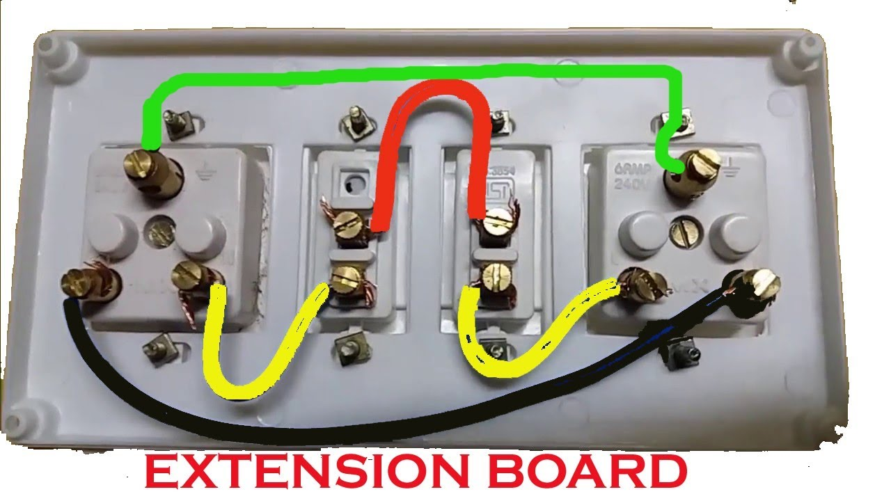 Extension Board Wiring | Electrical Extension board | Switch And Socket  Connection - YouTubeYouTube