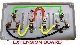 Extension Board Wiring | Electrical Extension board | Switch And Socket Connection