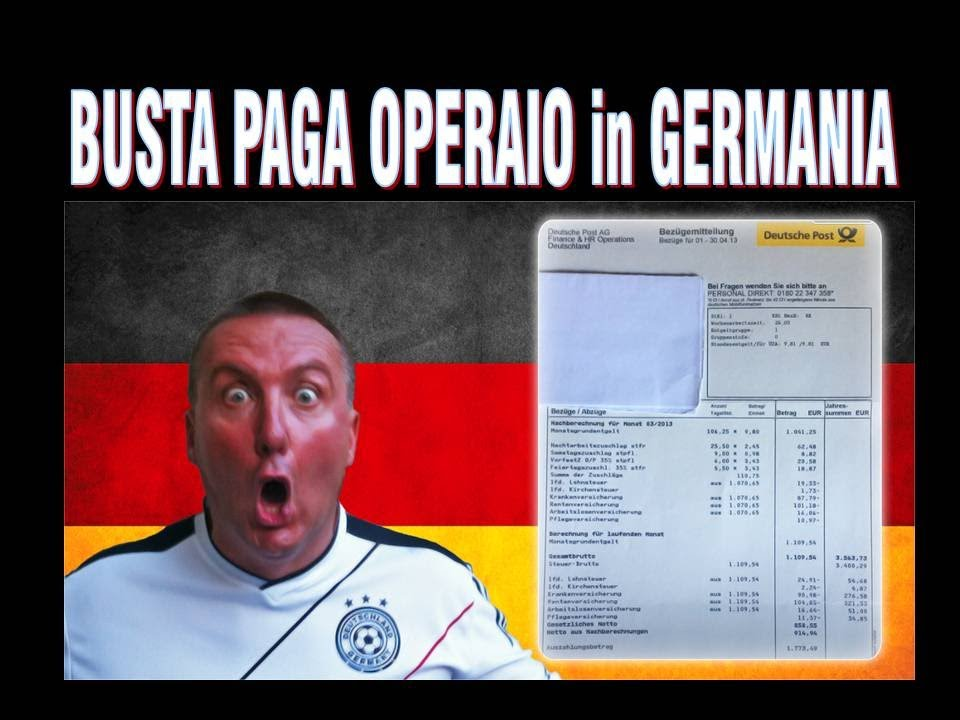 Busta paga operaio in germania guardate e meditate for Busta paga assistente alla poltrona
