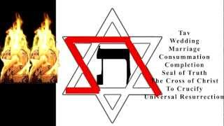 Symbols: Hexagram Star of David 6 pointed Star and the Hebrew