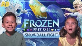 FROZEN FREE FALL: Snowball Fight CHALLENGE!
