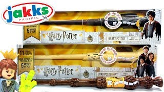 Harry Potter WIZARD TRAINING WANDS Jakks Pacific Toy Review Want mo...