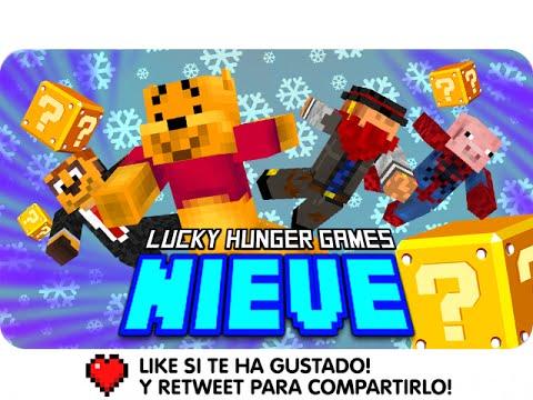 LUCKY HUNGER GAMES: NIEVE! | Minecraft Lucky Blocks Con Exo, Macundra Y Sarinha
