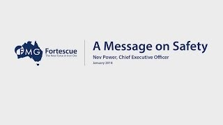 Fortescue Metals Group Fmg : Ceo Nev Power Makes A Statement About Safety