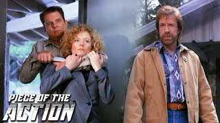 Walker Saves Alex In Cabin Showdown | Walker, Texas Ranger