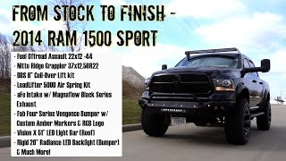 from stock to finish 2014 ram 1500 w 6 bds coil over fuel wheels nitto tires more